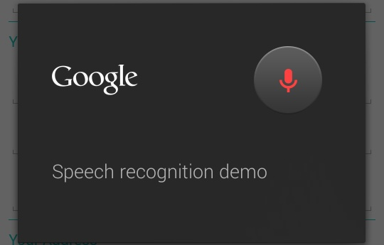 speech recognition in android