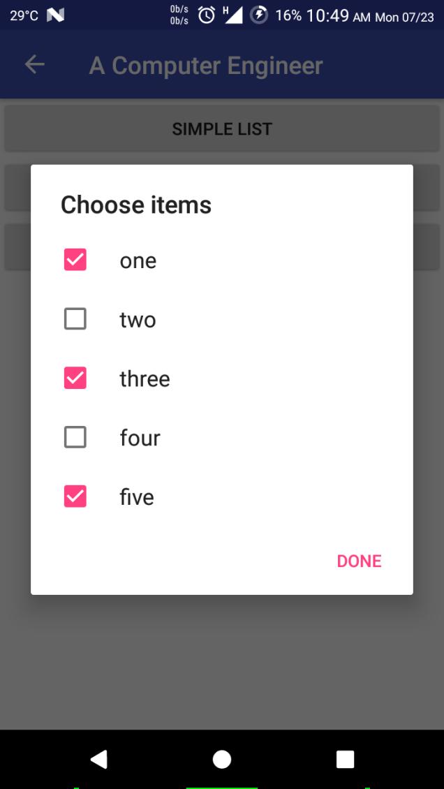 Check Box List in AlertDialog