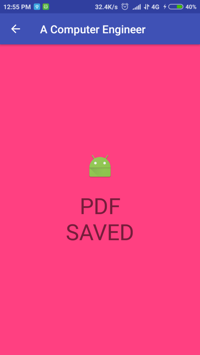 Create PDF file and save it to sdcard in Android