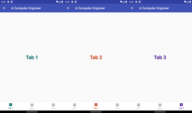 Different colors for selected tab in BottomNavigationView in Android